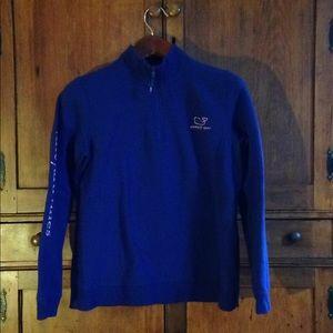 Women's Vineyard Vines blue shepshirt. Sweatshirt